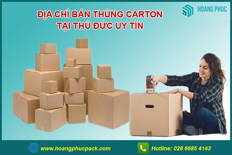 Bán thùng carton thủ đức