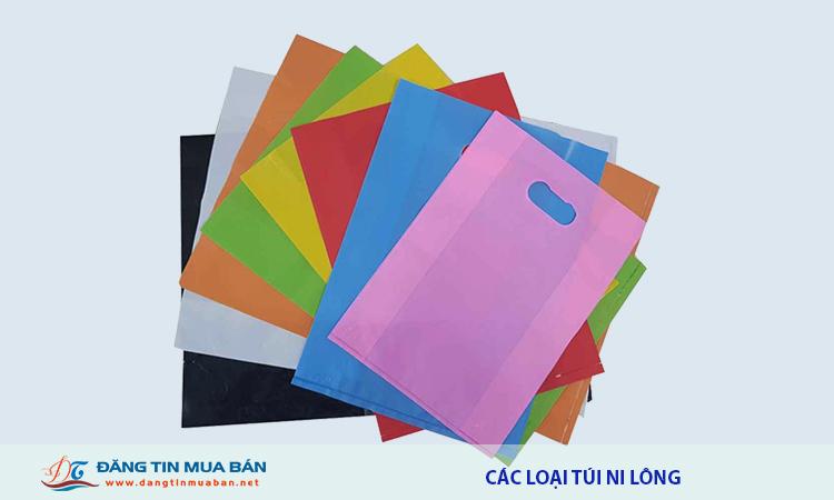 Các loại túi ni lông được sử dụng phổ biến